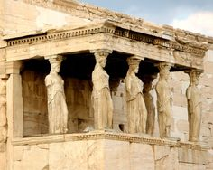 The magnificent Karyatides of the Parthenon