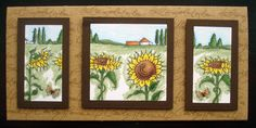 This Gorgeous handmade card was made by Georgina Ford using the new Sunflower set from Hobby Art (Sharon Bennett Collection) as seen on Create & Craft on Monday 21st October 3pm & 6pm