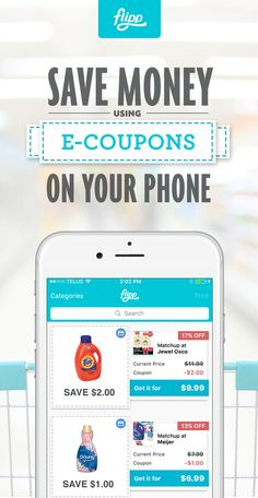 Electronic coupons for groceries