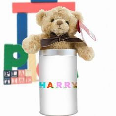 Personalised Teddy in a Tin - Animal Alphabet Boy Gifts, New Baby Gifts, Gifts For Boys, Animal Alphabet, Page Boy, Personalized Wedding Gifts, New Baby Products, Tin, Teddy Bear