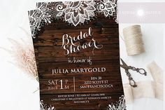 1ced4e461b9 Rustic Bridal Shower Invitation