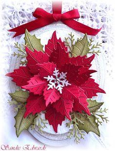 Cheery lynn dies. Love the snowflake centre.