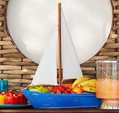 Sailboat Serving Bowl