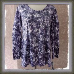 Womens Beaded Tunic Top Purple  Style + Co Extra Large XL New #StyleCo #Tunic #EveningOccasion