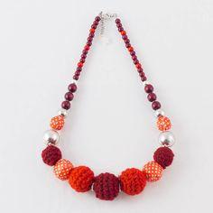 SOLVEIG Beach Spirit Necklace #red #knit #jewelry #littlemornandy