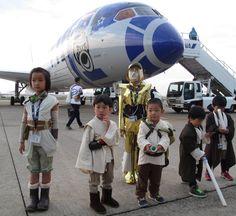 Японская ANA начинает полёты на самолёте в ливрее Star Wars: vokinburt