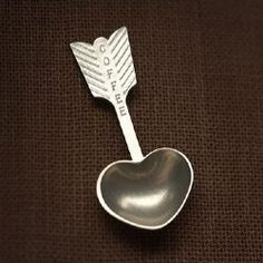 Heart Coffee Scoop - designed and finished by Beehive Kitchenware, cast in pewter