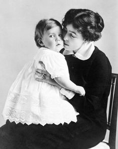 Crown Princess Margareta of Sweden (née Princess Margaret of Connaught) with her son, Prince Bertil.
