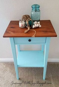 ikea hemnes nightstand makeover, chalk paint, painted furniture
