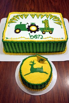 John Deere Birthday Cake & Smash Cake