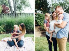 Cherry Hill lifestyle newborn session | in-home backyard family session posing inspiration | South Jersey family photographer | alison dunn photography