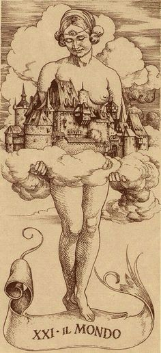 Il Mondo (The World) | Tarot de Dürer