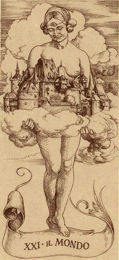 Il Mondo (The World) | Tarot de Dürer