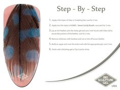 Feather step-by-step