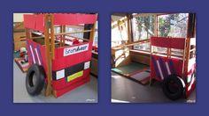 Hoeken:  brandweerauto van klimrek(ken)