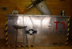 Repurposed Aircraft Bar