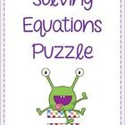 This activity requires students to solve one and two step equations in order to fit puzzle pieces together. Some equations involve fractions, decim...