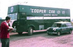 Albion Aberdonian Transporter with Alexander body. Here is the 1963 Cooper Formula One Team Transporter. Vintage Sports Cars, Vintage Racing, Classic Trucks, Classic Cars, Classic Auto, Pick Up, Mini Cooper S, Cooper Car, Automobile