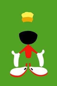 Looney Toons - Marvin the Martian Art Print by TracingHorses Looney Tunes Characters, Looney Tunes Cartoons, Old Cartoons, Classic Cartoons, Rugrats, Looney Tunes Wallpaper, Looney Toons, Disney Princess Cartoons, Best Cartoons Ever