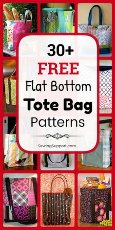 Tote Bag Patterns to sew 30 free structured boxstyle flat bottom tote bag patterns tutorials and diy sewing projects Styles include easy and simple tote bag patterns for. Bag Pattern Free, Bag Patterns To Sew, Sewing Patterns Free, Free Sewing, Quilted Bags Patterns, Style Patterns, Diy Sewing Projects, Sewing Projects For Beginners, Sewing Hacks