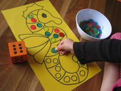 Counting and Subitizing Activities. Roll the dice, subitize the number add the dots to the picture. You could use dot stickers, counters, pom poms, cherios or bingo blotters to cover the dots. Subitizing Activities, Number Sense Activities, Math Activities For Kids, Counting Activities, Preschool Learning, Kindergarten Math, Preschool Activities, Preschool Journals, Numeracy