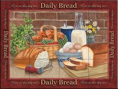 Ceramic Tile Mural - Daily Bread- by Mary Lou Troutman - Kitchen backsplash / Bathroom shower ** Want additional info? Click on the image. (This is an affiliate link) #KitchenBacksplashDIY