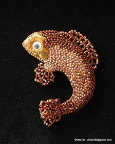 Veta's Art with Beads: Copper Fish / Рыбка медная