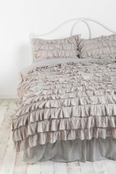 urbanoutfitters- love in teal and gray too... and pink and purple. I think I just love ruffles!