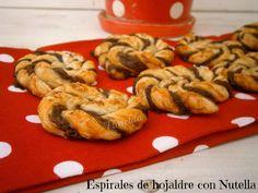 Florelila, recetas y aficiones.: Espirales o caracolas de hojaldre con Nutella.
