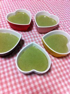 Matcha pudding Japanese Sweets, Matcha, Pudding, Ethnic Recipes, Food, Japanese Candy, Essen, Japanese Sweet