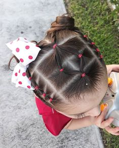 Toddler Hair Dos, Easy Toddler Hairstyles, Cute Little Girl Hairstyles, Baby Girl Hairstyles, Pretty Hairstyles, Braided Hairstyles, Girl Hair Dos, Braids For Kids, Hair Beauty