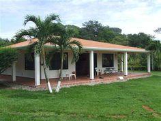 Village House Design, Bungalow House Design, Village Houses, My House Plans, Small House Plans, Hacienda Homes, Indian Home Design, Bamboo Construction, Simple House Design