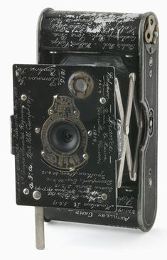 Vest pocket Kodak camera belonging to Sergeant P E Virgoe 4 Light Horse Regiment AIF (ca. 1913)
