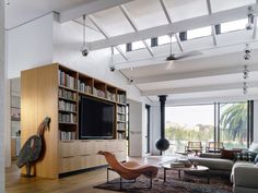 Northwood Residential Project by features our leather recessed pulls throughout this spectacular space pic credit: Residential Architecture, Interior Architecture, Interior Design, Bookcase Shelves, Shelving, Timber Door, Plumbing, Outdoor Spaces, Indoor