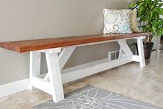 15 DIY Entryway Bench Projects | Decorating Your Small Space