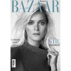 "Carmen Kass on Instagram: ""October 2015 issue cover story @harpersbazaartr shot by @cihanoncu  Styled by @hakanbahar0 Casting by @meganmccluskie1 Hair @nurisekerci Make up @dincomer Manicure #kumagency #harpersbazaar #harpersbazaartr #cihanoncu #CARMENKASS #carmenkass #october2015 #fashion #harpersbazaar #cover"""