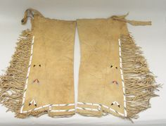 Osage, Native American. Leggings, early 20th century. Hide, beads, 29 3/4 x 15 3/8 in.  (75.5 x 39.0 cm).