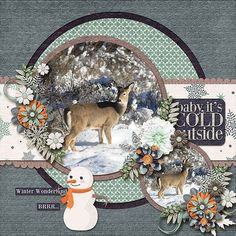 Animal Scrapbook Pages   Scrapbooking Ideas   12X12 Layout   Digital Scrapbook Page   Creative Scrapbooker Magazine #12X12layout #scrapbooking #animals