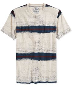 American Rag Men's Sprayed Striped T-Shirt, Only at Macy's