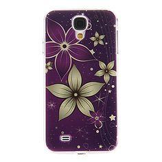 Lilla Ground blomster mønster plast beskyttende hårdt Back Case Cover til Samsung Galaxy S4 I9500 – DKK kr. 19