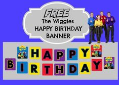 How to make The Wiggles Happy Birthday Banner Wiggles Birthday, Wiggles Party, Girl 2nd Birthday, The Wiggles, Happy Birthday Parties, Farm Birthday, Birthday Games, Birthday Ideas, Wiggles Cake