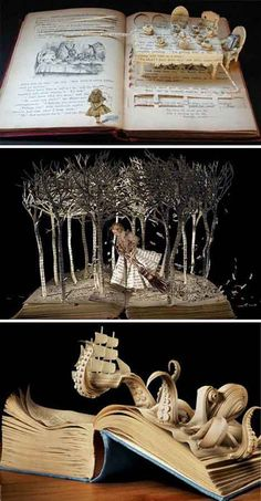 Book paper sculpture