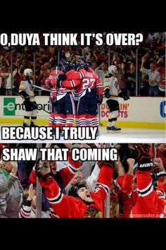 Puns, intended. Johnny Oduya Andrew Shaw Hockey Memes