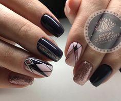 Fabulous Nails, Gorgeous Nails, Pretty Nails, Gold Nails, Fun Nails, Nail Manicure, Nail Polish, Art Deco Nails, Geometric Nail Art