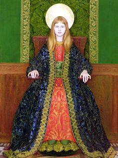 File:Thomas Cooper Gotch - The Child Enthroned 1894.jpg