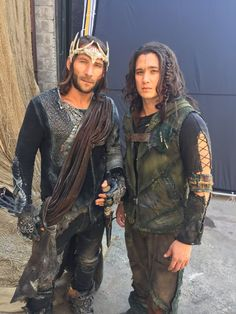 Zach and Chai- Roan and Ilian. The 100 Cast, The 100 Show, It Cast, Bellarke, The Legend Of Monkey, King Roan, Charles Vane, Sky People, Netflix