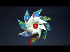 DIY How to make Paper Toy Windmill (Easy craft for kids) - JK Arts 526 - YouTube