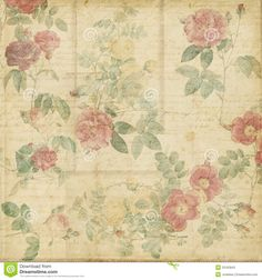 Botanical Vintage Roses Shabby Chic Background - Download From Over 54 Million High Quality Stock Photos, Images, Vectors. Sign up for FREE today. Image: 23162843