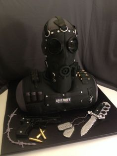 Call of duty cake, Xbox cake, ps3 cake, playstation cake, grooms cake, black ops cake