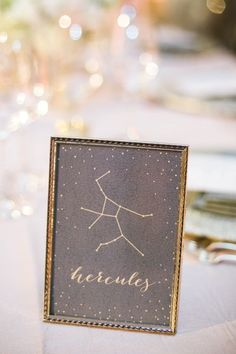 Frame constellations for your table numbers